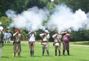 Guilford Militia fires Memorial Day salute